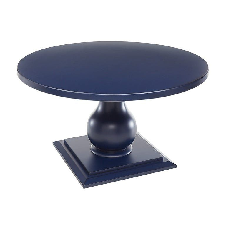 Prescott Blue Round Dining Table 60 Round Dining Table Blue Dining Tables Round Dining