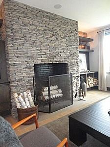 Stacked Stone Fireplace Designs 3660 courtland pl s, seattle, wa 98144 | fireplaces, refacing and