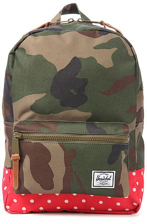 Herschel Suppy Backpack Kids in Camo & Red Polka Dot - Karmaloop ...
