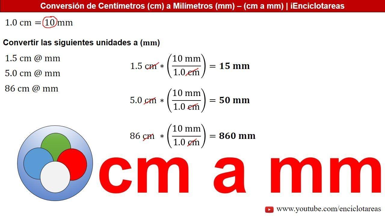 Centímetros A Milímetros Cm A Mm Varios Ejemplos Youtube Conversion De Unidades Unidades De Longitud Frases Motivadoras