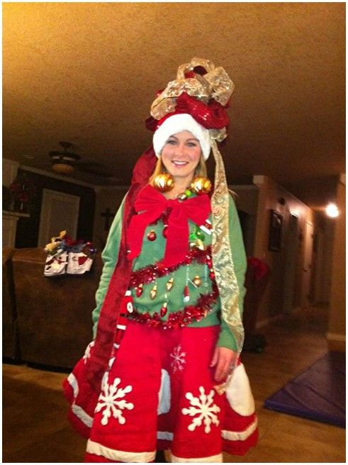 Ordinary Tacky Christmas Party Outfit Ideas Part - 9: Ugly Christmas Sweater Party - Tree Skirt For A Skirt?