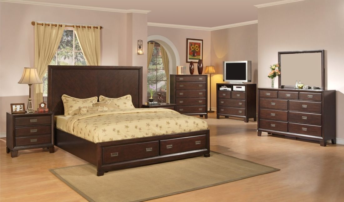 6Pc Queen Platform Bedroom Set- BEL Furniture Houston & San ...