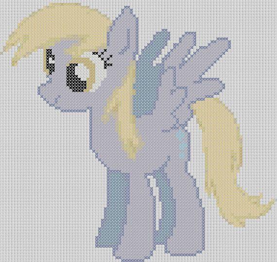 My Little Pony Inspired Pattern - Derpy Hooves PDF, cross stitch ...
