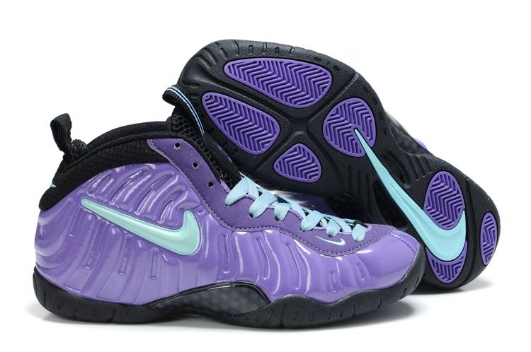79511ec6676 Nike Air Foamposite Pro Womens Purple light Blue Black