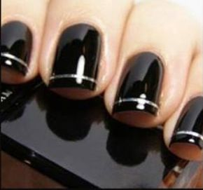 Love these black nails nails pinterest black nails and nails top three black and silver nail designs with classic visibility black and silver nail polish designs black and silver french nailsblack and silver nail prinsesfo Gallery