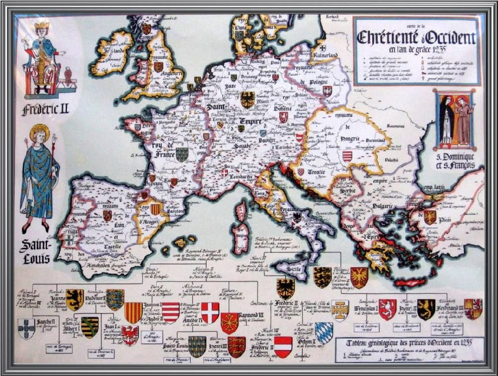 Map of Europe 1235 Map of Europe