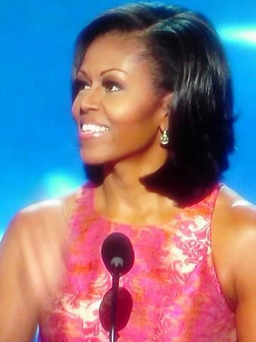 The beautiful and eloquent, Michelle Obama, at the 2012 DNC