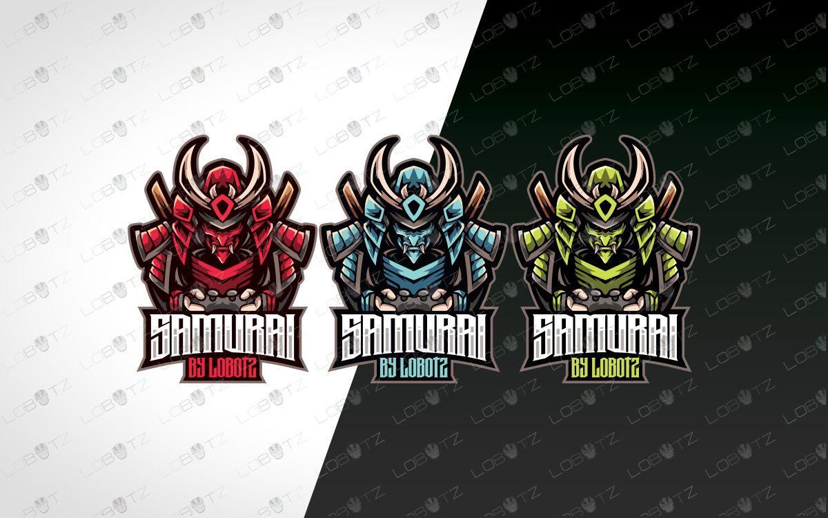 Gamer Samurai Mascot Logo Gamer Samurai Esports Logo Gaming Logo
