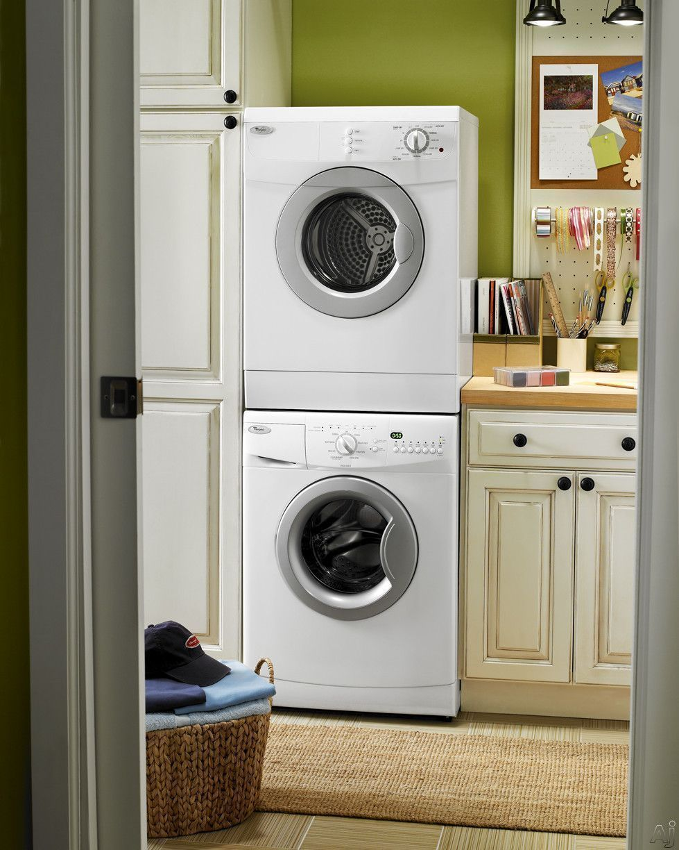 Small Laundry Room Stackable Washer Dryer  Laundry room storage