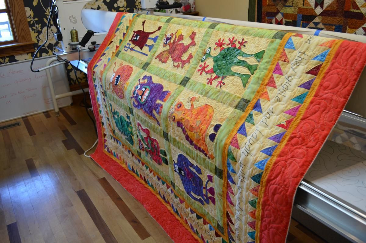 Monster Quilt Just Had To Share Pinterest Monsters Grandkids