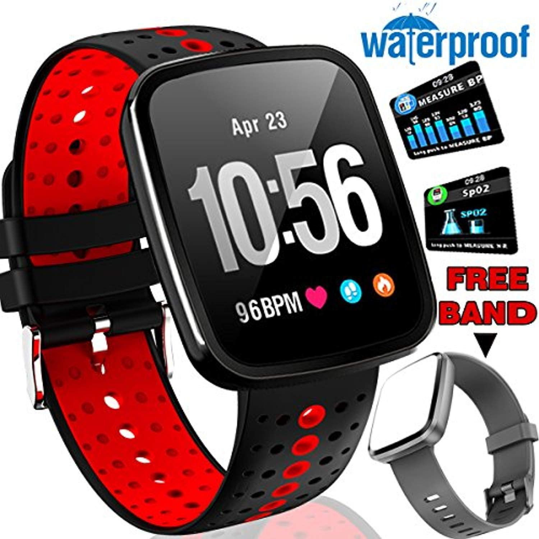 ONMet Fitness Tracker Smart Watch IP67 Waterproof Heart