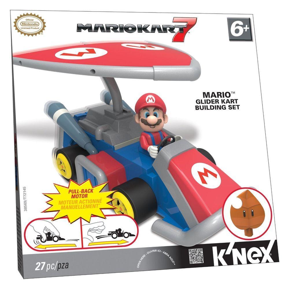 K Nex Nintendo Mario Kart 7 Mario Pullback Glider Kart A8 Nintendo Mario Kart Mario Mario Kart 7