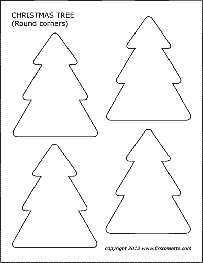 Christmas Tree Free Printable Templates Coloring Pages