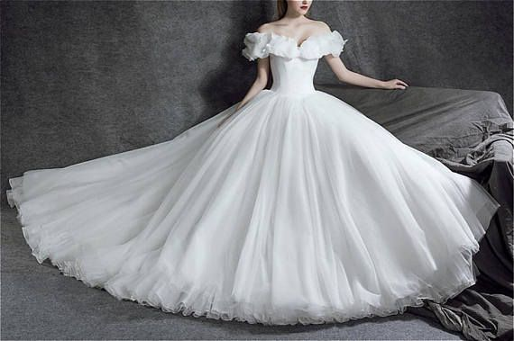 Cinderella dress Wedding dress ivory bridal dress Dream wedding gown ...