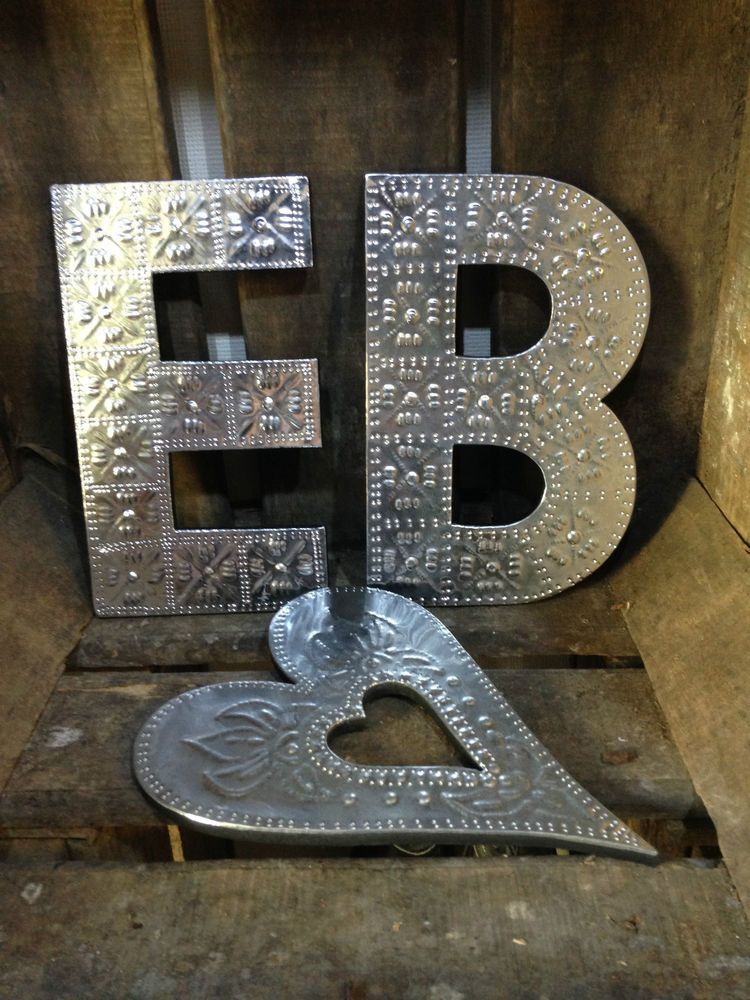 20cm A-Z Alphabet Aluminium Letters Wall Hanging Gift Signs Home
