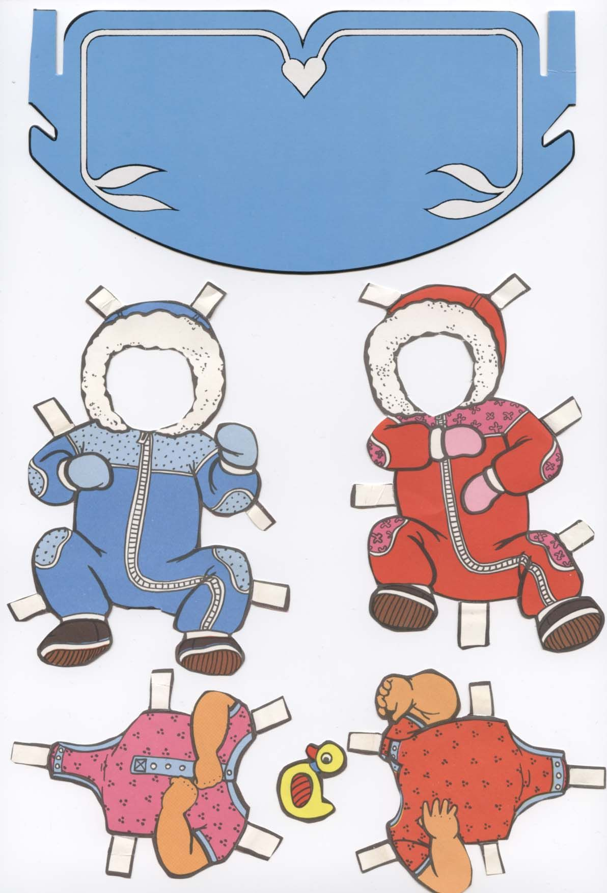 My old paperdolls - Twins with furniture