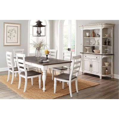 Twotone French Country 5 Piece Dining Set  Bourbon County Classy Two Toned Dining Room Sets Design Decoration