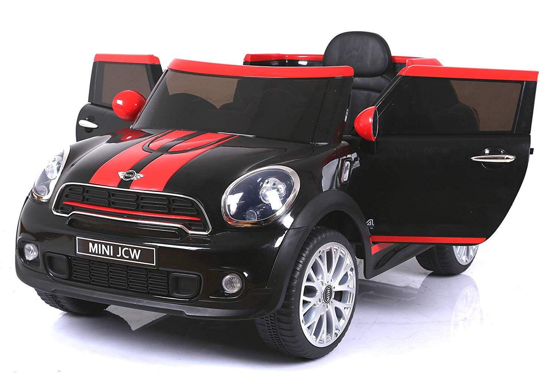 Der Spielzeugtester Hat Das Mini Paceman Jcw Elektrisches Auto Fur Kinder Schwarz Original Lizenziert Batteriebetrieben Offnung Kinder Autos Autos Und Fernbedienung