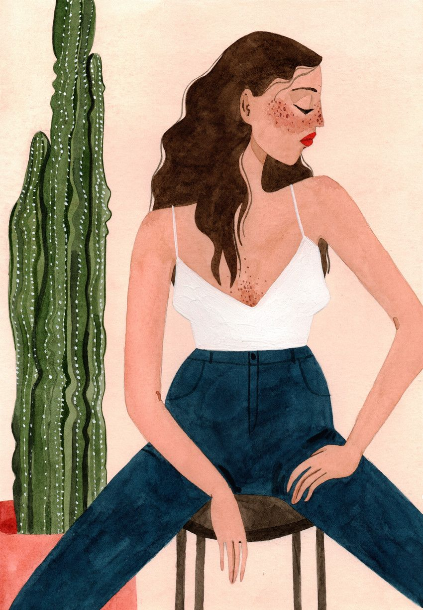 Trend Alert: Feminine Art Prints for Creative Plant Lovers #illustrationart