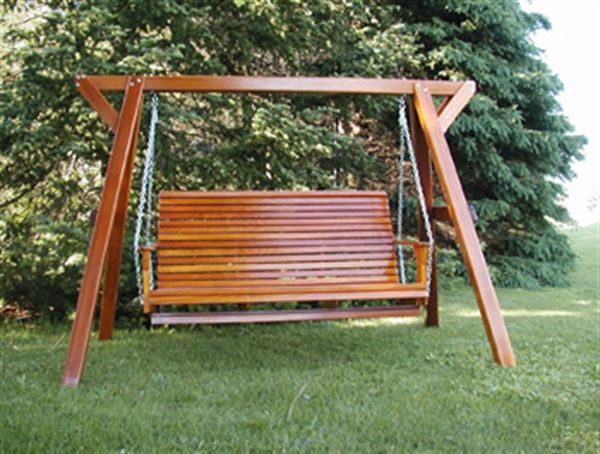wood frame swing wooden family outdoor porch swing thebestadirondackchaircom - Wood Porch Swing With Frame