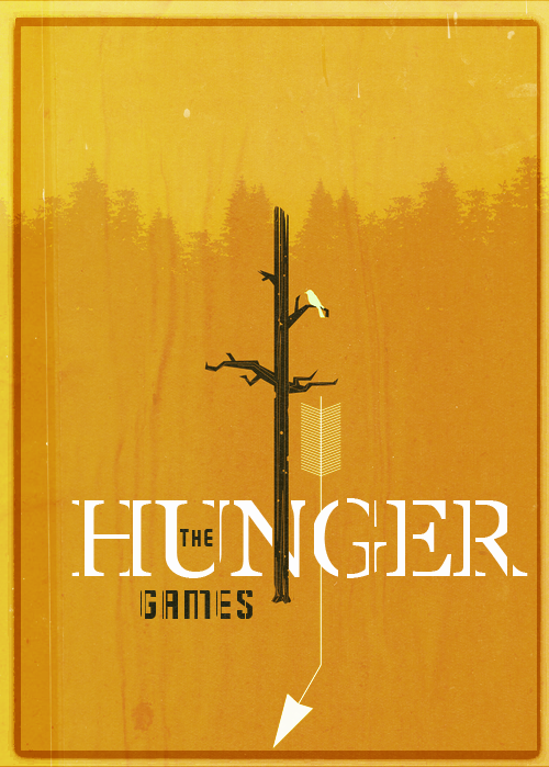 Minimal movie posters- The Hunger Games