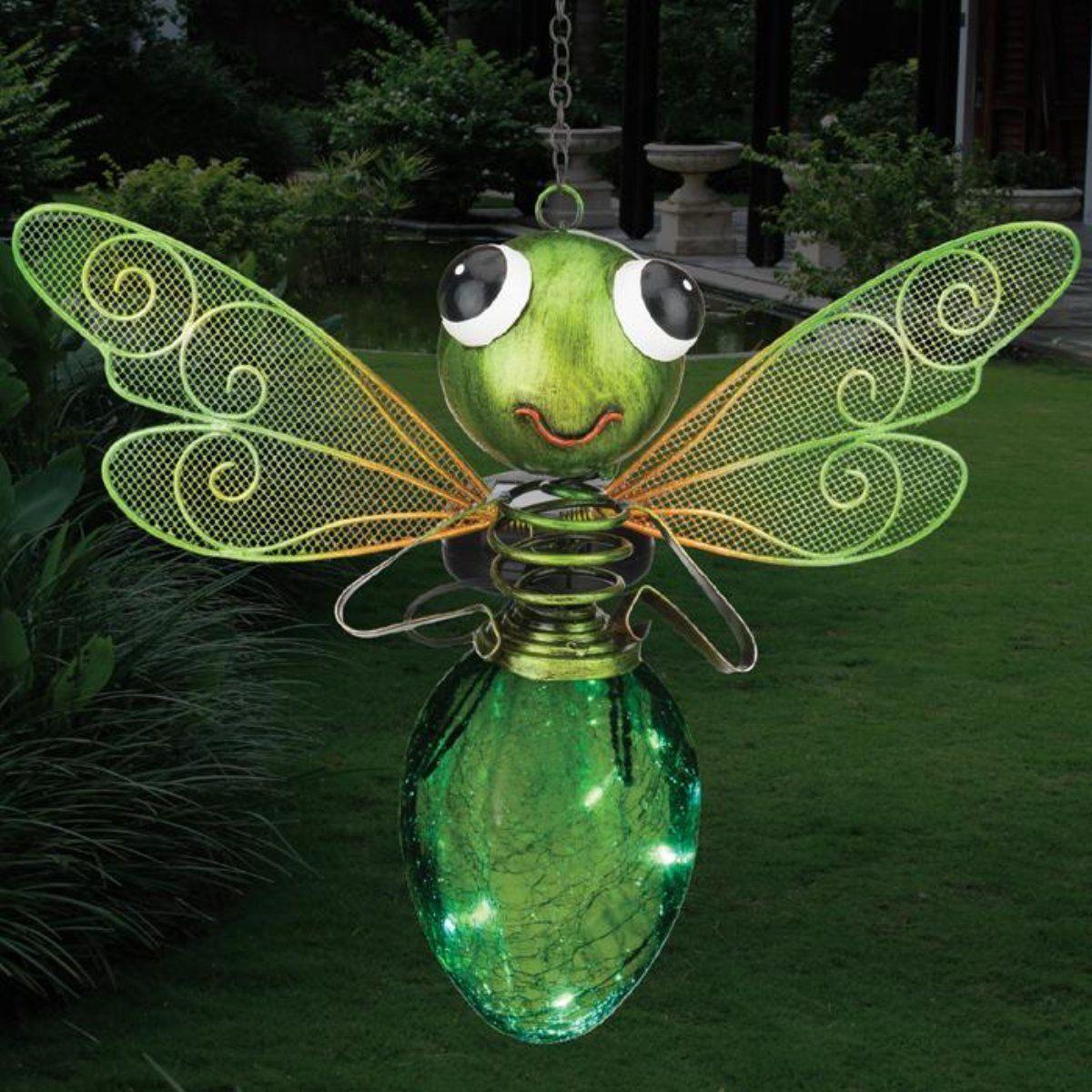 Solar Light Dragonfly Lantern Green Solar Lights Solar Lanterns Lanterns