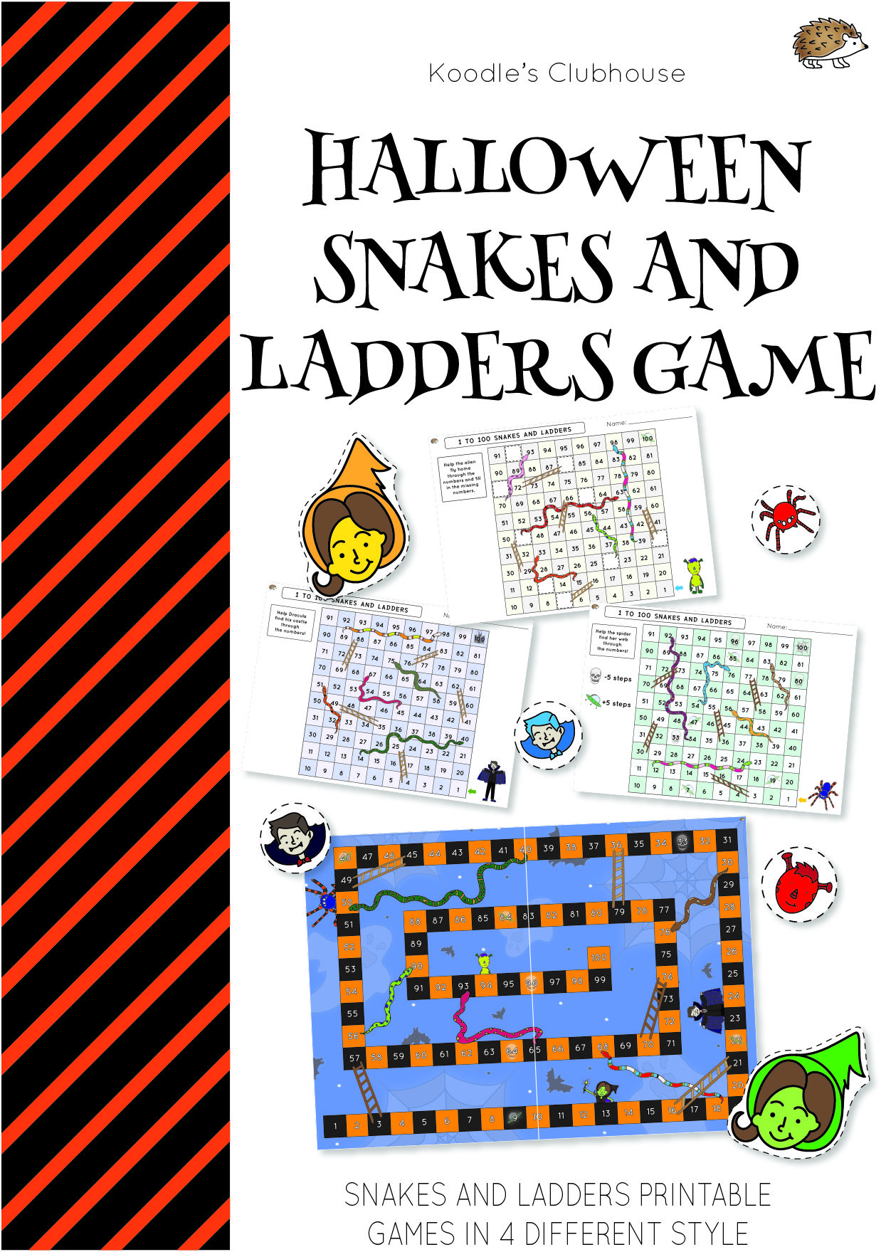 Halloween Snakes And Ladders Game