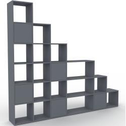 Photo of Wohnwand Anthrazit – Individuelle Designer-Regalwand: Türen in Anthrazit – Hochwertige Materialien