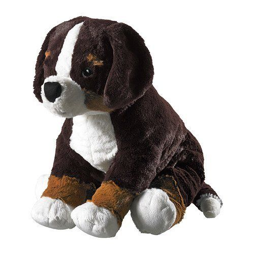 ikea hoppig soft toy dogbernese mountain dog 36 cm a little puppy loves to learn new things and play u2013 most of all with you