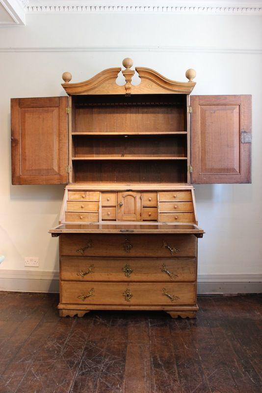 Late 18th Century Danish Bleached Oak Bureau · Antique ArmoireAntique  FurnitureScandinavian ...