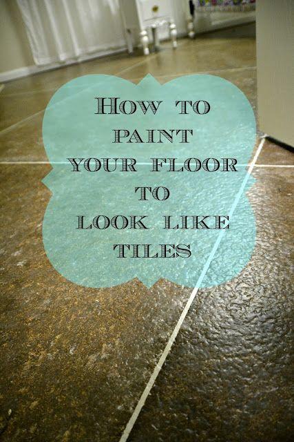 Diy Faux Painting diy faux painted tile floor | concrete cement, floor painting and