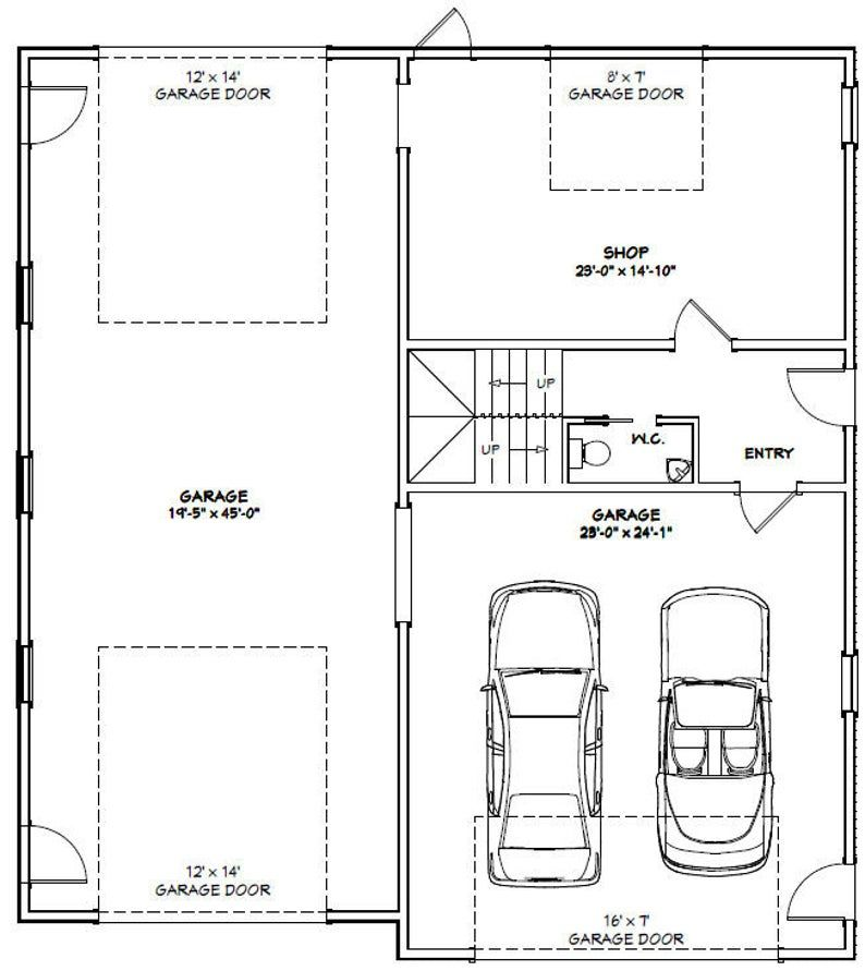 44x48 House 2Bedroom 2.5Bath 1645 sq ft PDF Floor Etsy
