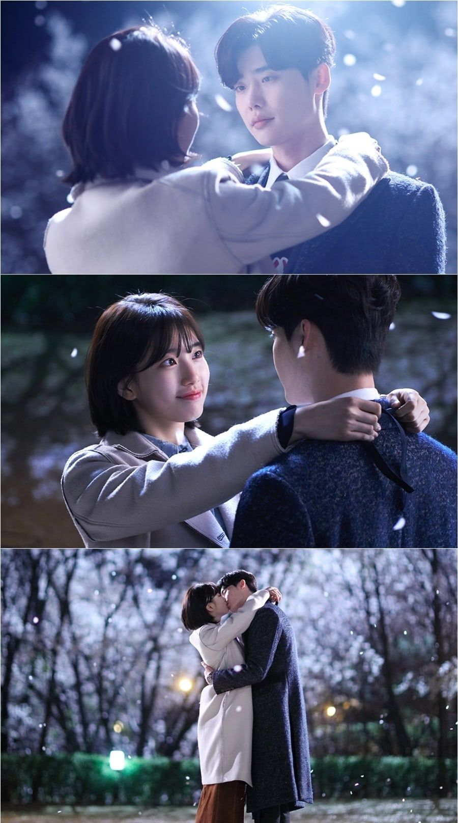 While you were sleeping reveals more photos of suzy and lee jong while you were sleeping reveals more photos of suzy and lee jong suks iconic kiss to thank viewers soompi stopboris Images
