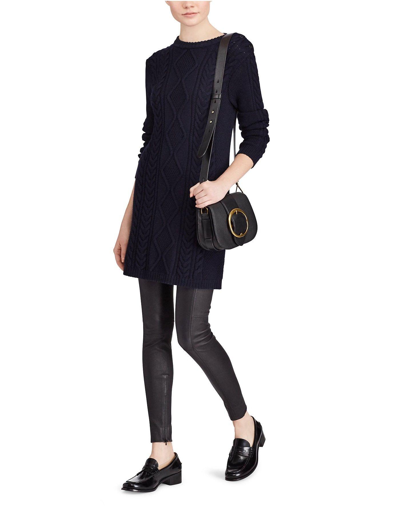 267a43a65 RALPH LAUREN Polo Ralph Lauren Aran-Knit Wool Sweater Dress.  ralphlauren   cloth