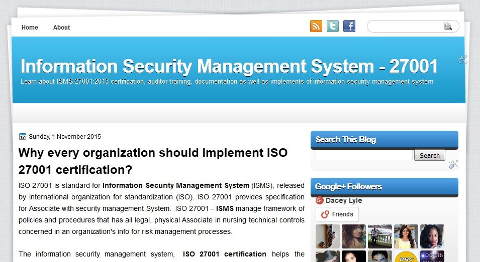 iso 27001 is standard for information security management