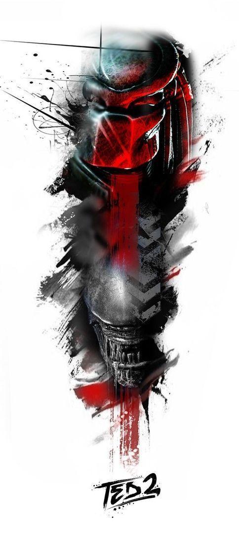 51 Deadliest Predator Tattoo Designs Ideas For Men: Click To Join AVP Fandom On Thefandome.com #Alien