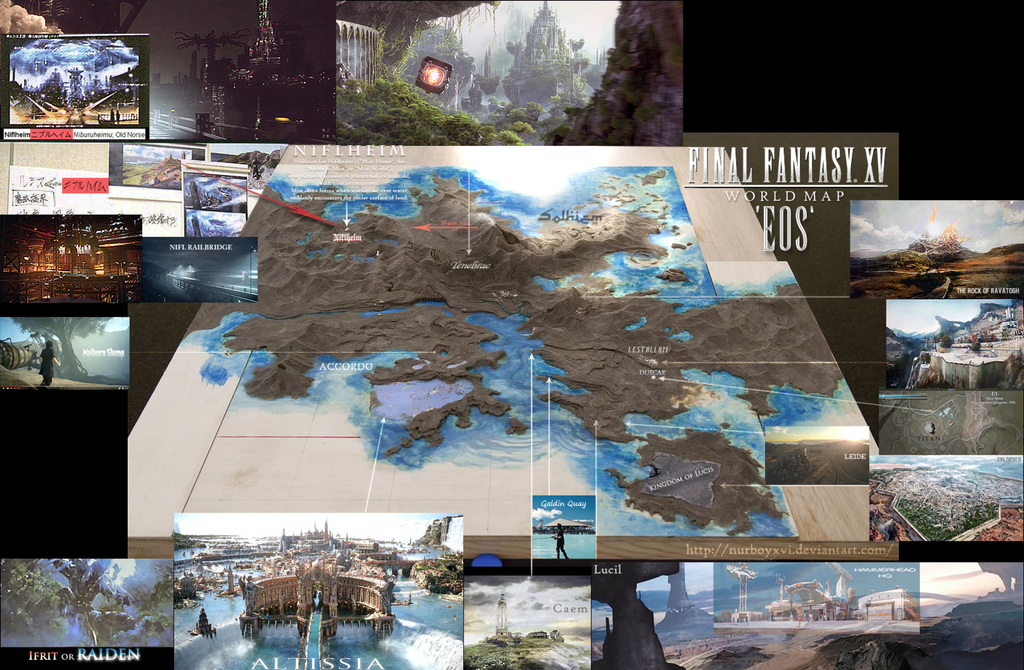 Final Fantasy Xv World Map Final Fantasy XV Eos World Map : FFXV (With images) | Final