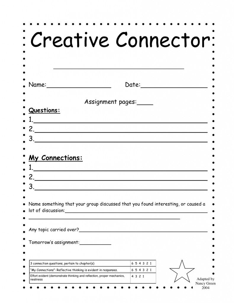 worksheet Literature Circle Worksheets creative connector classroom ideas pinterest literature circle handouts not my work grade jake dury