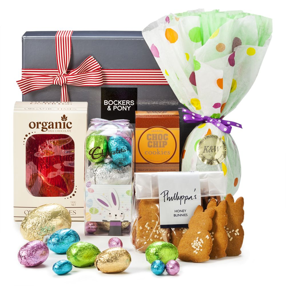 Bockers & Pony : Easter Gift Ideas : Egg-Static Easter Hamper with Chocolate Easter Eggs