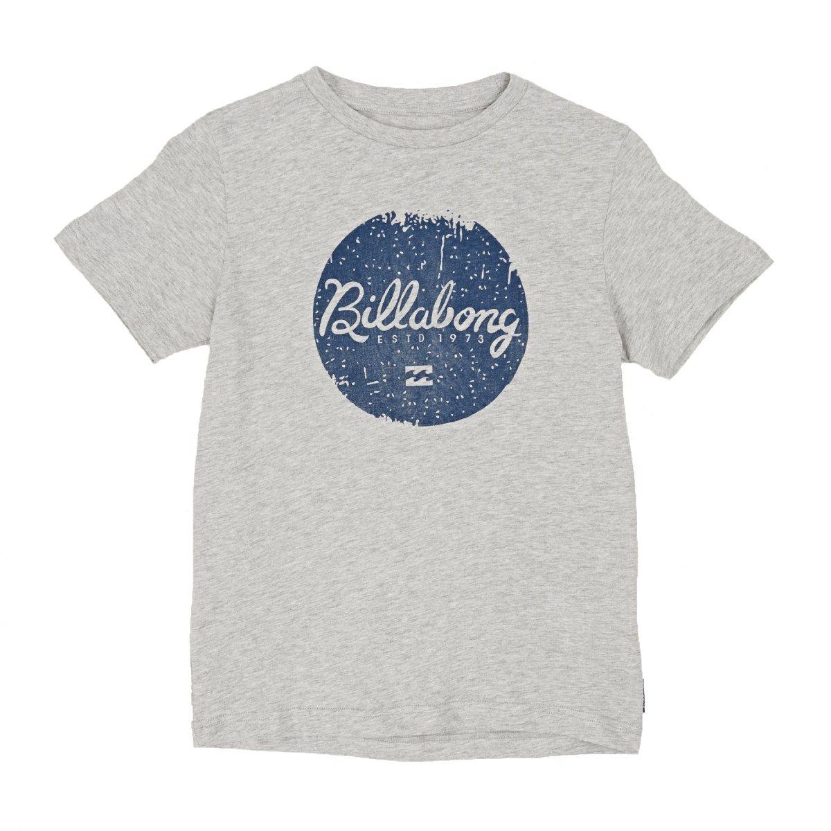 Billabong T-shirts - Billabong Scriptik Boys T-shirt - Light Grey Heat
