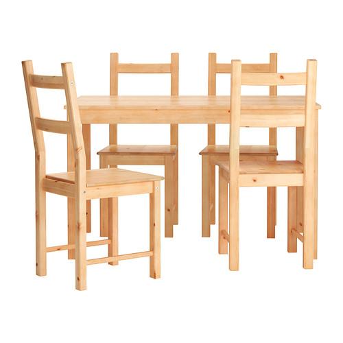 ingo ivar tisch und 4 stuhle ikea massive kiefer ein naturmaterial das in wurde altert