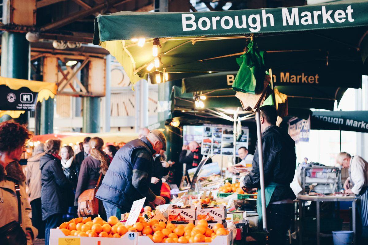 Image result for borough market fresh food market