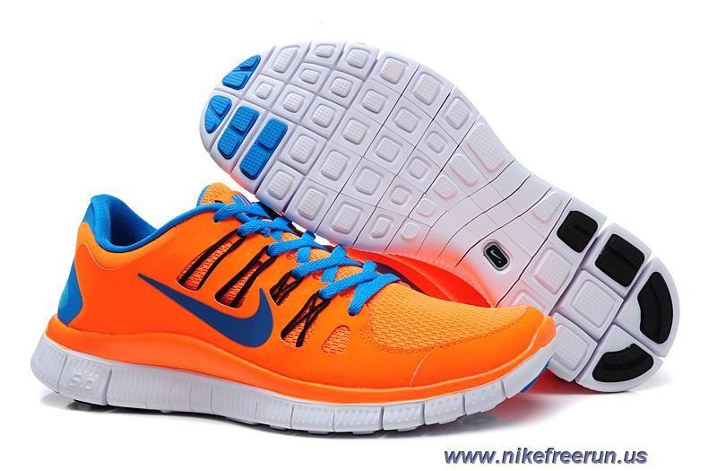 buy online 15d90 deefc ... czech mens nike free 5.0 total orange blue hero black running shoes  outlet 42d73 f58a1