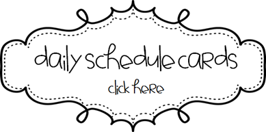 daily schedule cards (free) and 2nd grade back-to-school