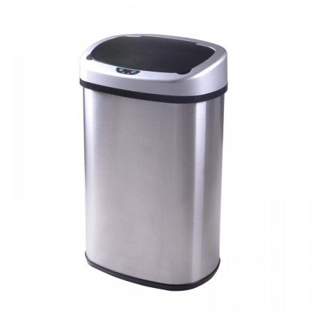 Walmart Outdoor Trash Cans Bestoffice Touch Free Sensor Stainless Steel Trash Can 132Gallon