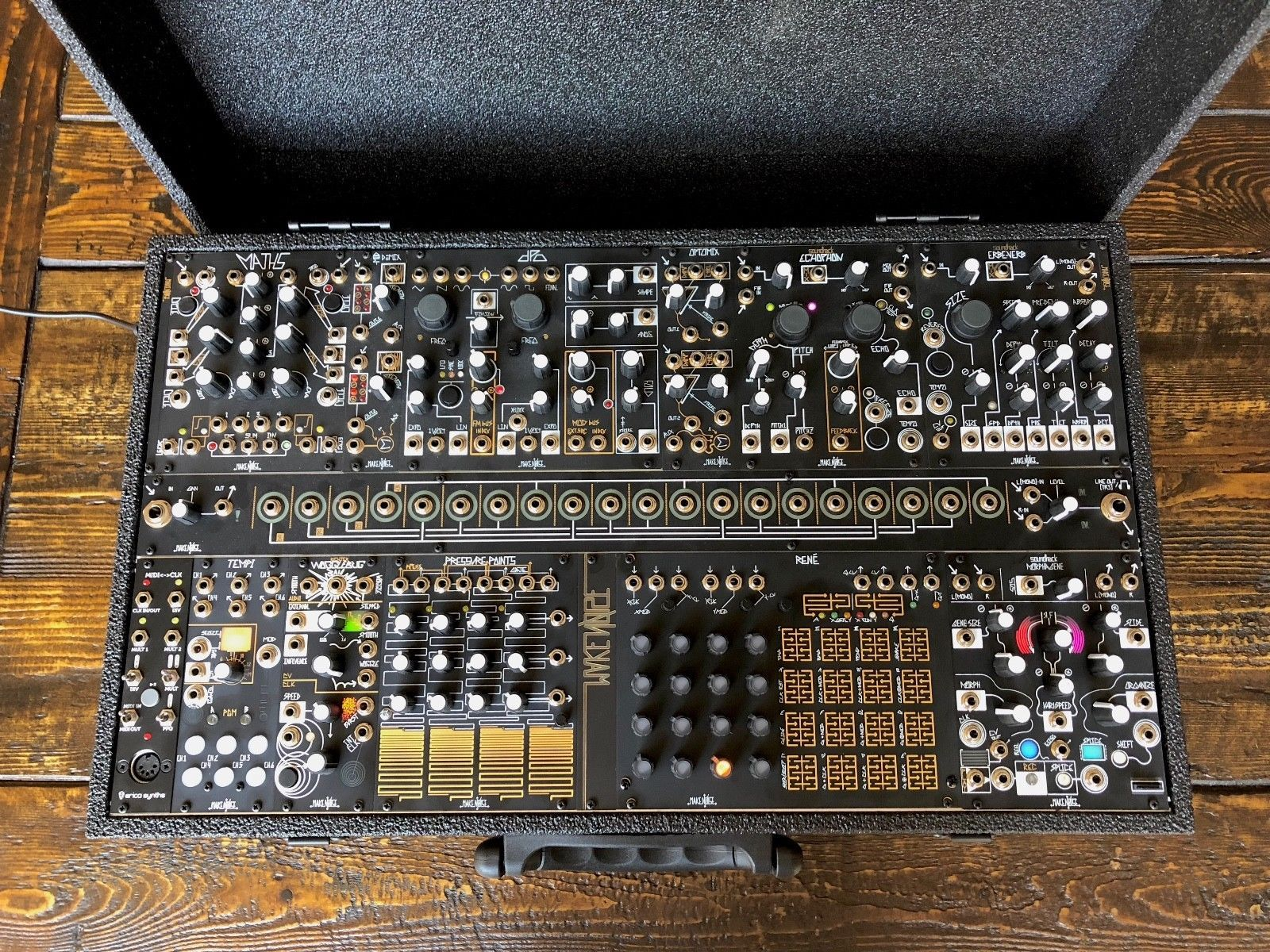 make noise black gold shared system plus modular synthesizer ebay synthesizers. Black Bedroom Furniture Sets. Home Design Ideas