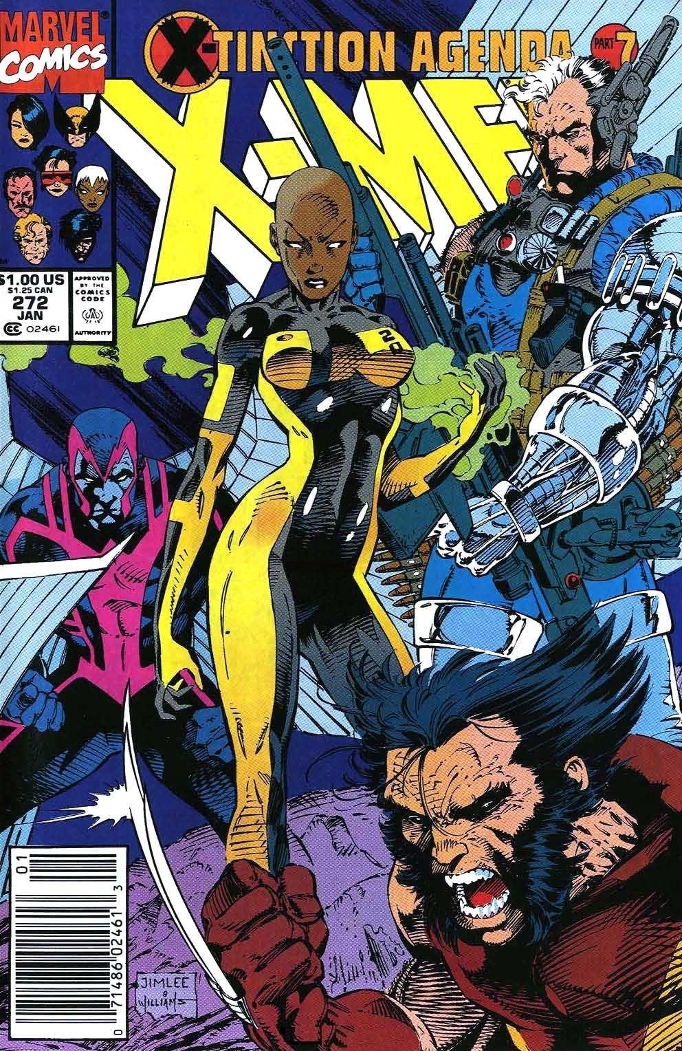 Uncanny X Men Vol 1 272 Jim Lee Art Marvel Comics Covers Comic Covers