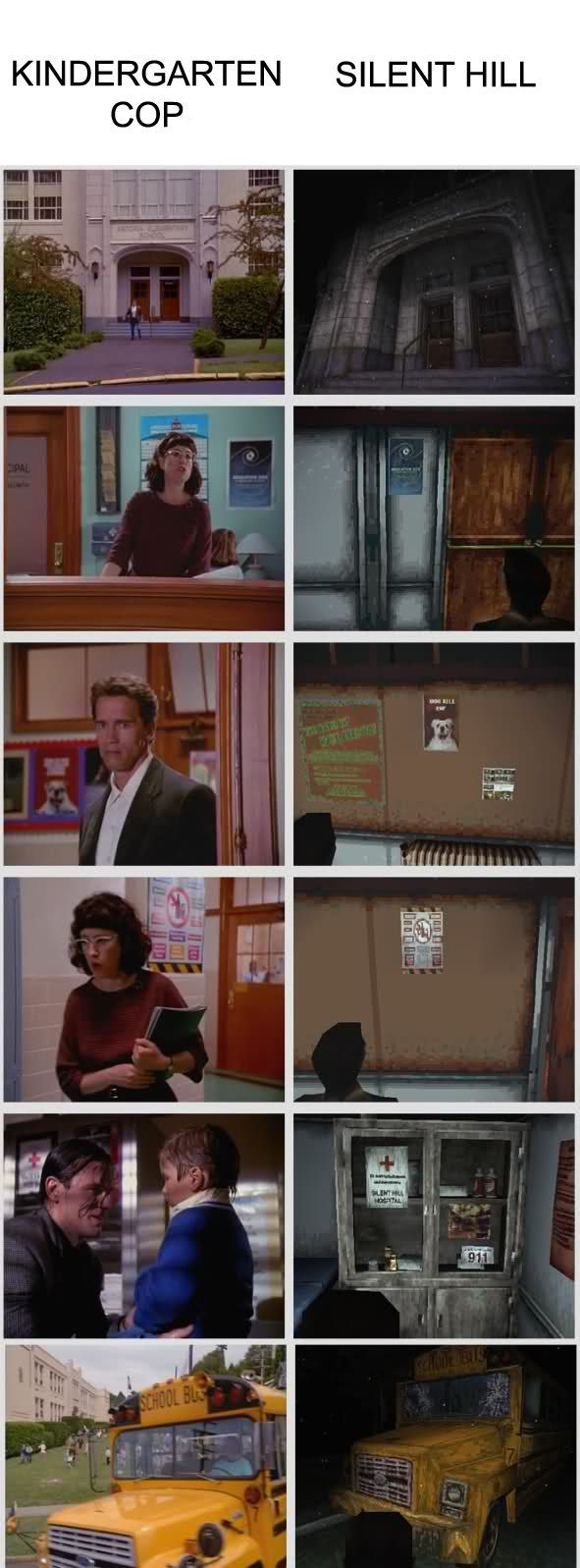 Kindergarten Cop is SilentHill Silent hill movies