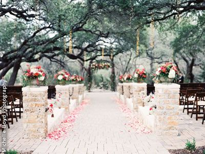 Camp Lucy Dripping Springs Texas Wedding Venues 12 I Love The Setting Under Trees With Long Walk Way
