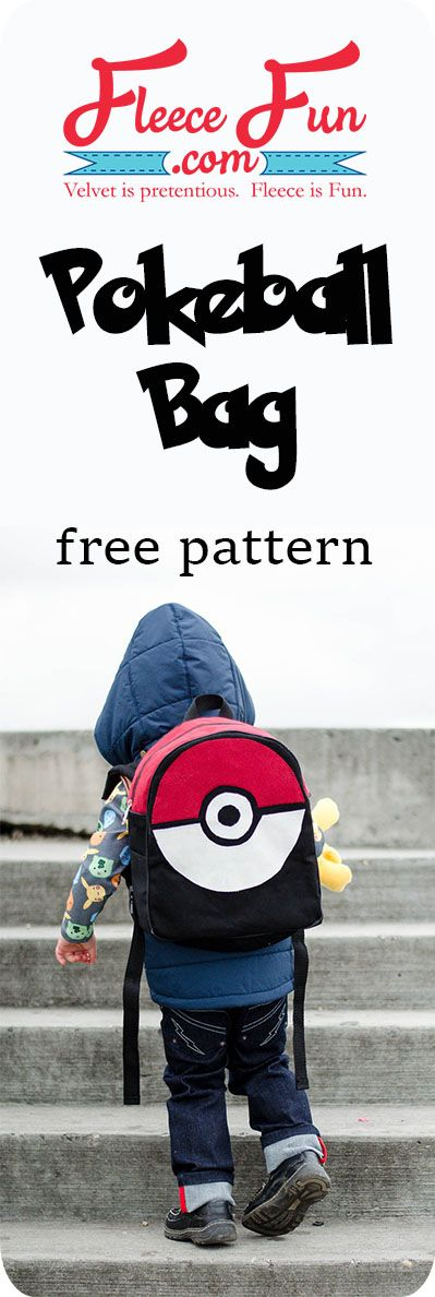 This cute Pokeball backpack tutorial is so cute! This is perfect for my  little Pokemon Go lover. Fun sewing DIY idea. 49ee2f77df7a3